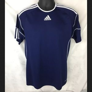 Adidas Men's Climalite Blue Shirt Size Medium